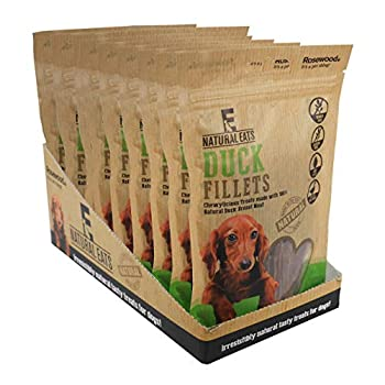 Rosewood Pet Products Palissandre Naturel Nosh Canard Filets pour Chiens, 80 g/m², Lot de 12