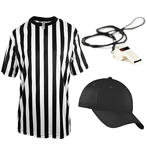Mato & Hash Children's Referee Shirt Ref Costume Toddlers Kids Teens - Ref Set CA2004K M CA2099 V S/M RW1000