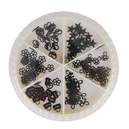 Nail Art Sequins Mixed Flower Cheap bargain Black Hollow Slic Super sale period limited
