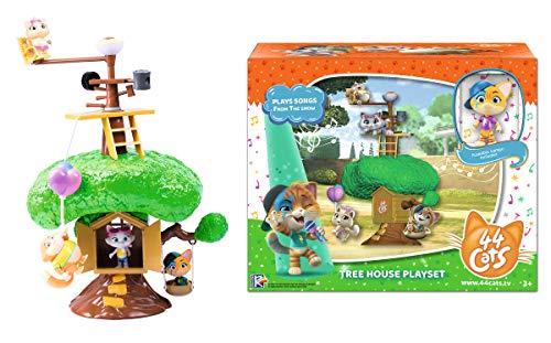 Smoby-44 Gatos-Playset casa en el árbol con personaje incluido, color, 7600180204 , color/modelo surtido