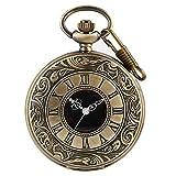 Reloj de bolsillo vintage, con números romanos clásicos, reloj de acero para ...