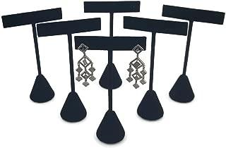 T- Shape Style Earring Display Black Velvet 4.75