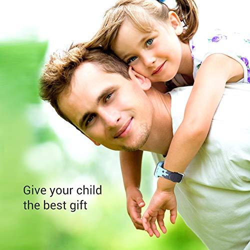 Openuye Kinder Smartwatch, Smartphone mit LBS-Standort, SOS, 1,44-Zoll LED Touchscreen Uhr mit Digitalkamera, SIM-Anrufe, Wecker für Jungen und Mädchen, kompatibel mit iOS und Android(Blau)