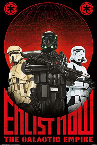 Star Wars - Poster - Rogue One - Enlist Now + Ü-Poster