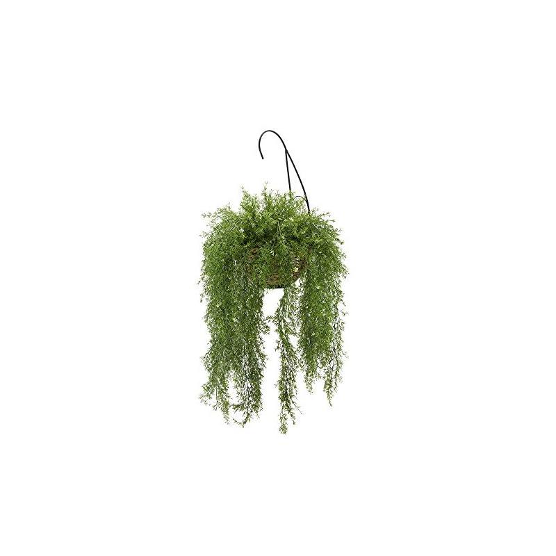 silk flower arrangements house of silk flowers faux asparagus fern hanging basket (water hyacinth)