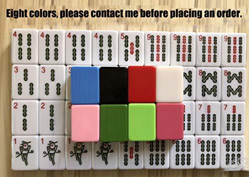 WANGYONGQI Mahjong, American Mahjong, Classic Volledige grootte Mahjongg Set, thuis aangepaste Engels mahjong tegels