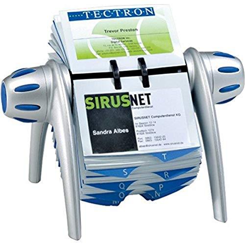 Durable 241723 Visifix Flip Vegas - Rollo rotador de tarjetas 215 x 120 x 185 mm, color plata