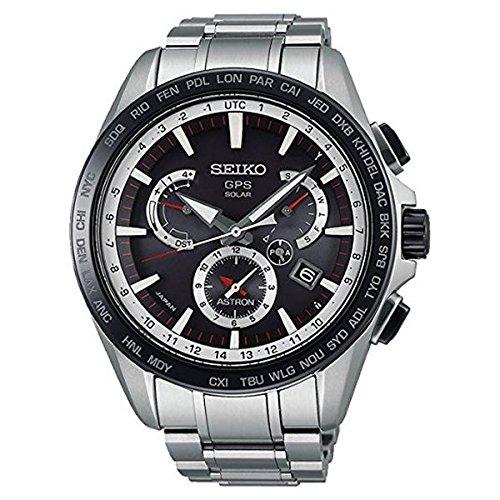 Seiko Herren Chronograph Solar Uhr mit Edelstahl Armband SSE051J1