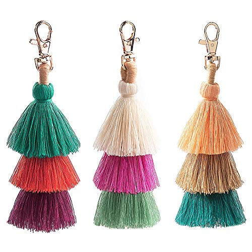 This colorful is 3 packages for sale. ---cotton pompom keychain with beaded accents is a lively way to identify your keys. Decorate your purse, tote or backpack with this trendy pom pom bag charm. Each piece is unique adding to its individuality and ...