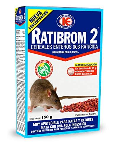 IMPEX EUROPA Ratibrom 2 Cereali raticida 150 g, Rosso