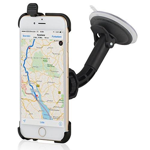 Wicked Chili KFZ Halterung für Apple iPhone 6 (4,7 Zoll) Autohalterung (Kugelgelenk, vibrationsarm, Made in Germany, schwarz)
