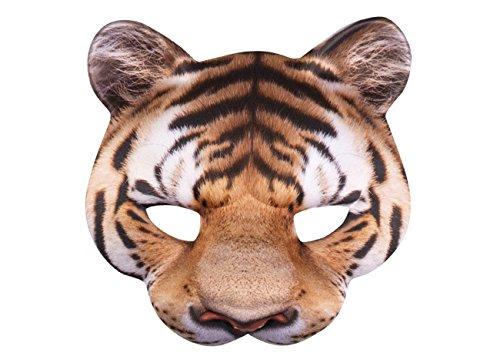 Boland 56730 Halbmaske, mens, Tiger, One Size
