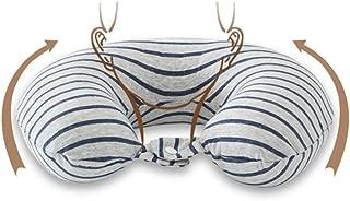 Travel Pillows U-Shaped Pillow Neck Pillow Latex Pillow Aircraft Travel Car Headrest High Elastic Breathable Soft Comfort Pillow Travel Pillows (Color : Gray, Size : 30 * 28 * 10cm)