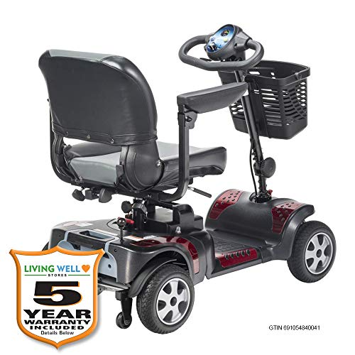 """Phoenix 4 Wheel Heavy Duty Scooter by Drive Medical, 20"""" Wide Seat Includes 5 Year Protection..."""