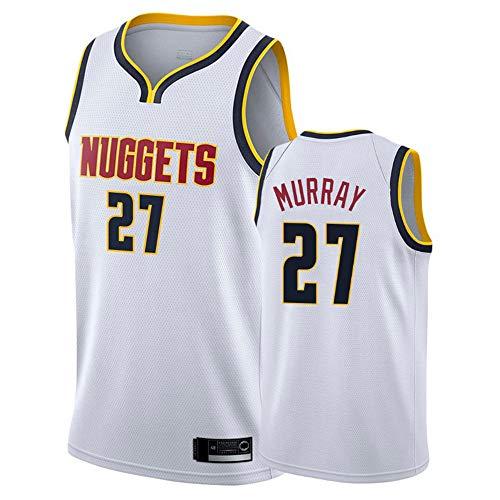 XXMM Uniformes De Baloncesto De Los Hombres, NBA Denver Nuggets # 27 Jamal Murray Sports Outdoor Sports Jersey Camisetas Sin Mangas Camisetas Deportivas Chaleco Tops,M(170~175CM)