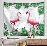 WERT Flamingo Tapiz de Arte de Pared Tapiz Tropical decoración del hogar Cortina Sala de Estar Colcha Mantel A10 150x130cm