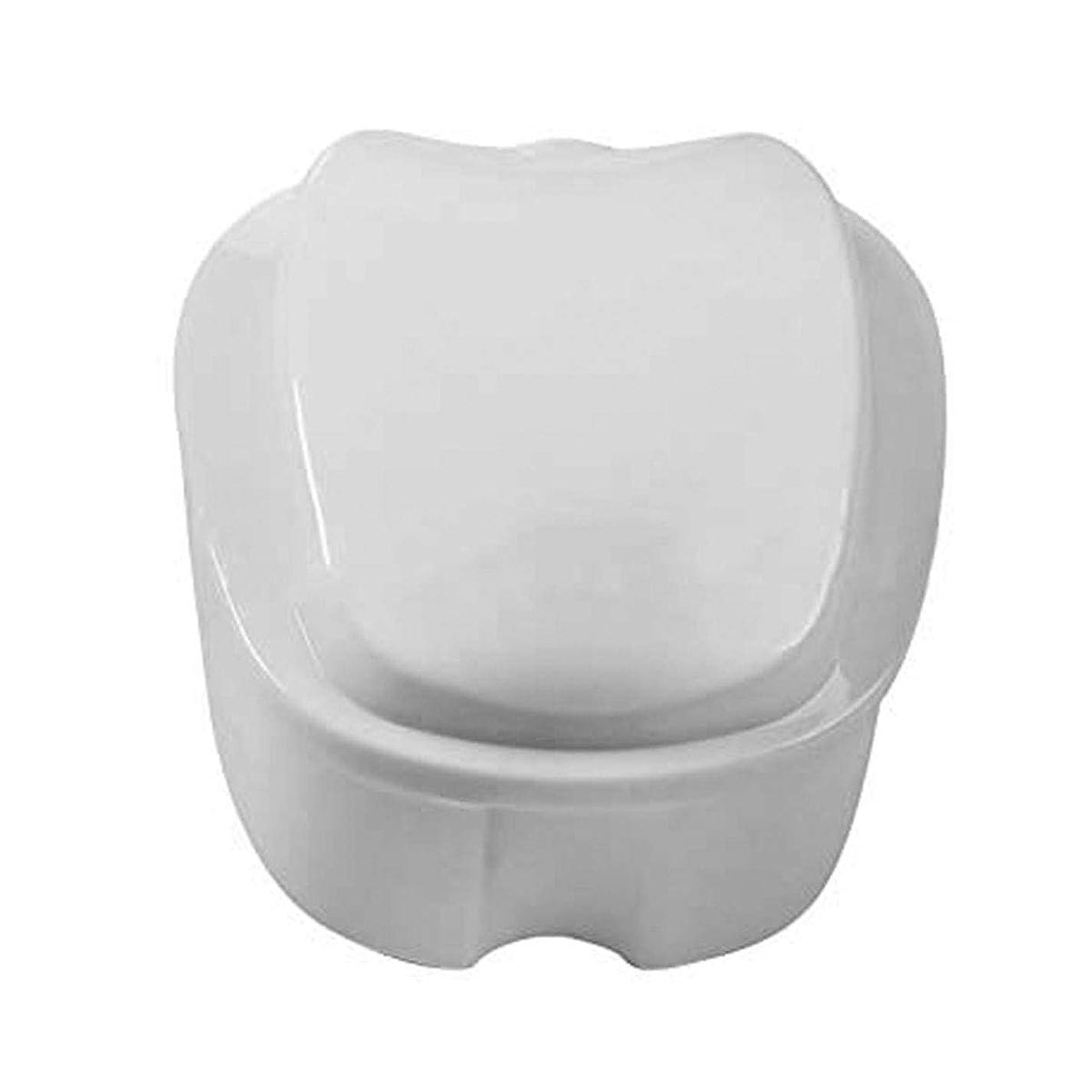 何でも慣らすくるくるCoiTek 入れ歯 ケース 義歯容器 家庭旅行用 ストレーナー付き(ホワイト)