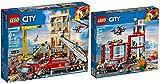 LEGO® City 60215 60216 - Estación de bomberos y bomberos en la ciudad