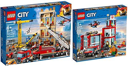 LEGO City 60215 60216 - Estación de bomberos y bomberos en la ciudad