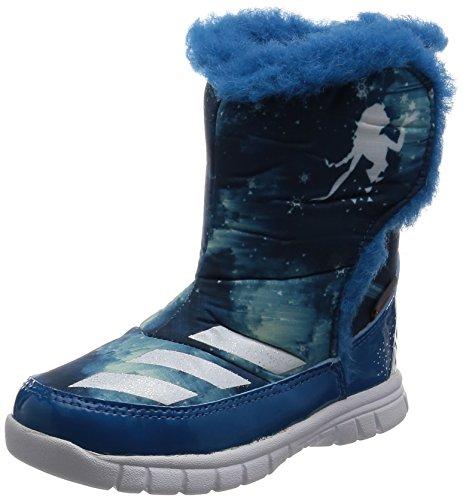 adidas Jungen Unisex Kinder Disney Frozen MID I Sneaker, Blau (Azuuni Ftwbla Azuhie), 25 EU