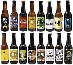 Pack de cervezas artesanas. x16 Las mejores marcas. 5280 ml. El mejor regalo. Incluye Río Azul Flora, medalla de Bronce en Barcelona Beer Challenge 2020 categoríaSPECIALTY IPA BELGIAN IPA