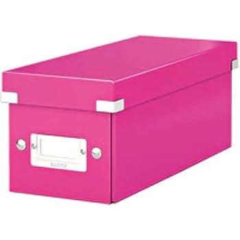 Leitz Caja para guardar CD, Azul, Click and Store, 60410036: Amazon.es: Oficina y papelería