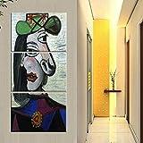 YK-GVOR Leinwand Gemälde 3 PanelPoster Mode Wand Modulare Bild 3 Panel Picasso Leinwand Kunstdrucke Dekoration Wohnzimmer Moderne Gemälde Kunstwerk