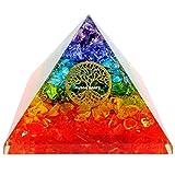 Energy Pyramid Crystal for Emf Protection & Healing- Meditation Orgonite Pyramids/Crystal Chakra/Crystal Light Lure Energy/Pyramid Crystal/Good Energy Crystals/Crystal Light Energy/Orgone Pyramid