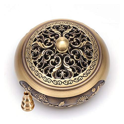 BDBT Quemador de Incienso de Cobre Puro de sándalo Furnace - Aromaterapia Ceremonia Antiguo Horno Interior de la casa de té de la meditación Zen Regalos (Shape : A)