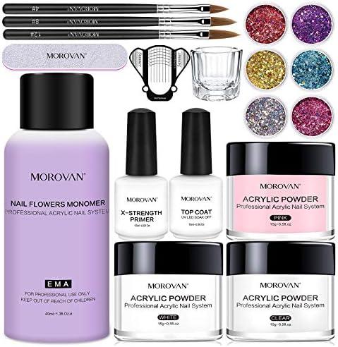 Morovan Acrylic Powder And Liquid Set 18 In 1 Acrylic Nail Kit Set With Monomer Acrylic Nail product image