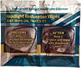 Yellow Off Headlight Cleaner Multi Wipe Set, 3 Sets of Wipes