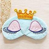 Adecco LLC Cute Sleeping Beauty Cartoon Eye Mask & Blindfold for Kid's Sweet Dreams(light blue)
