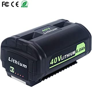 FLYLINKTECH 6000mAh Replacement Ryobi 40V Lithium Battery for Ryobi 40-Volt Cordless Power Tools OP4050A OP4015 OP4026 OP40201 OP40261 OP4030 OP40301 OP4040 OP40401 OP4050 OP40501 OP40601