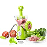 Artence Meat Grinder,Stainless Steel Plate,Powerful Suction Base,Fast and Effortless for All...