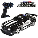 Haktoys RC Police Sports Car, Radio Remote Control Hot Pursuit Cop Chase, Super Fast 1:12 Scale Drift Patrol Vehicle | Parent Friendly - No Siren Sound or Flashing Lights