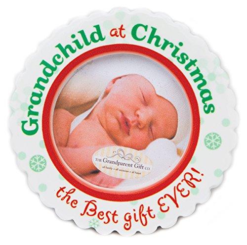 The Grandparent Gift Ceramic Photo Ornament, Grandchild's Christmas