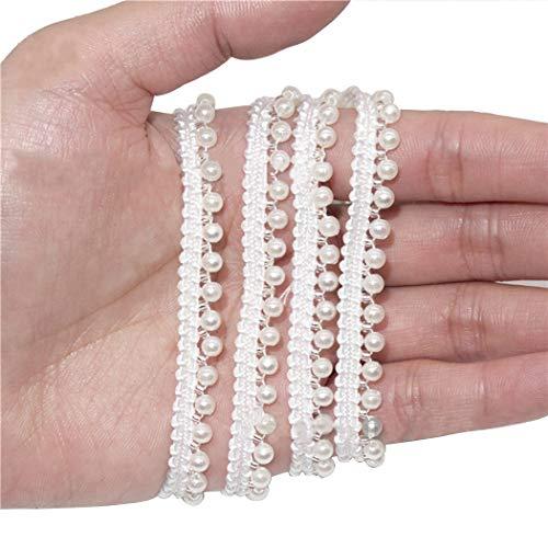 Zoylink 10 Yards Künstliche Perlenbesatz Perlenbesatz Dekorativer DIYHandwerksbesatz