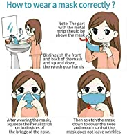 William Klein 50 PCS Face Mask 3 Ply Breathable Ear Loops Disposable Masks Blue