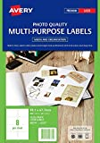 Avery Glossy Photo Quality Multi-Purpose Labels for Laser Printers, 99.1 x 67.7 mm