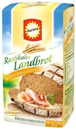 Aurora Rustikales Landbrot Brotbackmischung, 6er Pack (6 x 500 g)
