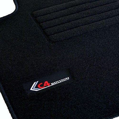 Car Lux AR01691 - Alfombras Alfombrillas Coche a Medida Personalizadas Edition para el C4 Coupe Desde 2004-