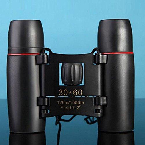 Compact Binoculars, F.DORLA Portable Folding Binoculars for Adults Night Vision Binoculars for Birds Watching High Powered Lightweight Binocular for Kids Camping/Hiking Travel 30x60 Binocular
