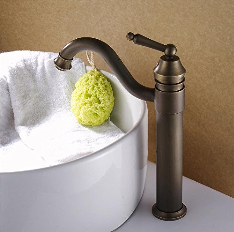 ETERNAL QUALITY Badezimmer Waschbecken Wasserhahn Messing Hahn Waschraum Mischer Mischbatterie Tippen Sie auf Retro-Sitz Art Becken Mischbatterien Küchenspüle Armaturen
