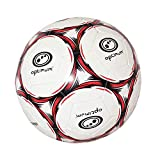 OPTIMUM Ballon de Foot Classico Football, Noir/Rouge, 3