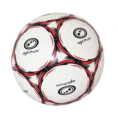 OPTIMUM Football Classico Herren-Fußball, Rot-Weiss, 3