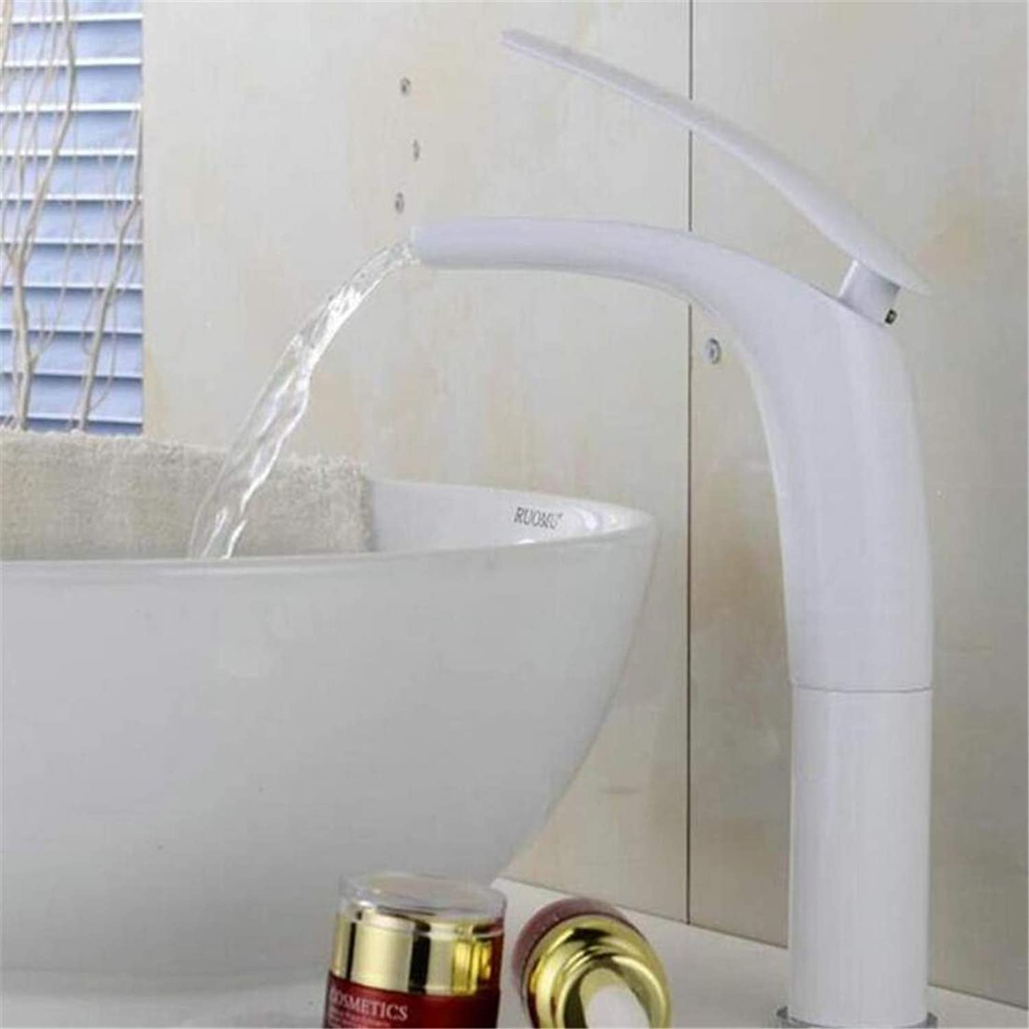Faucet Kitchen Bathroom Stainless Steel Faucet Faucet Washbasin Mixer Waterfall Basin Faucets Hot&Cold Mixer Bathroom Basin Tap Brass
