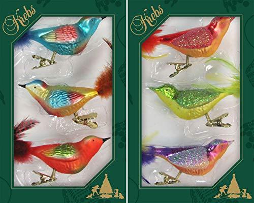 Multicolor, Fantasie-Vögel auf Clip 2-fach