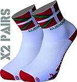 TKS Pack 2 Pares Calcetines EUSKADI Softair+, Ciclismo, Running, Triatlon Y Senderismo (S(36-39))