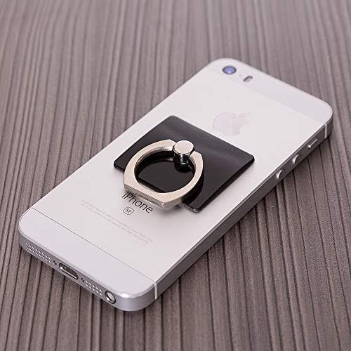 Style Ring-Anel Acoplável, Capa Anti-Impacto Anti-Furto, Preto, Universal