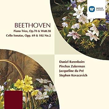 Beethoven : Piano Trios Op.70/WoO.38/Cello Sonatas